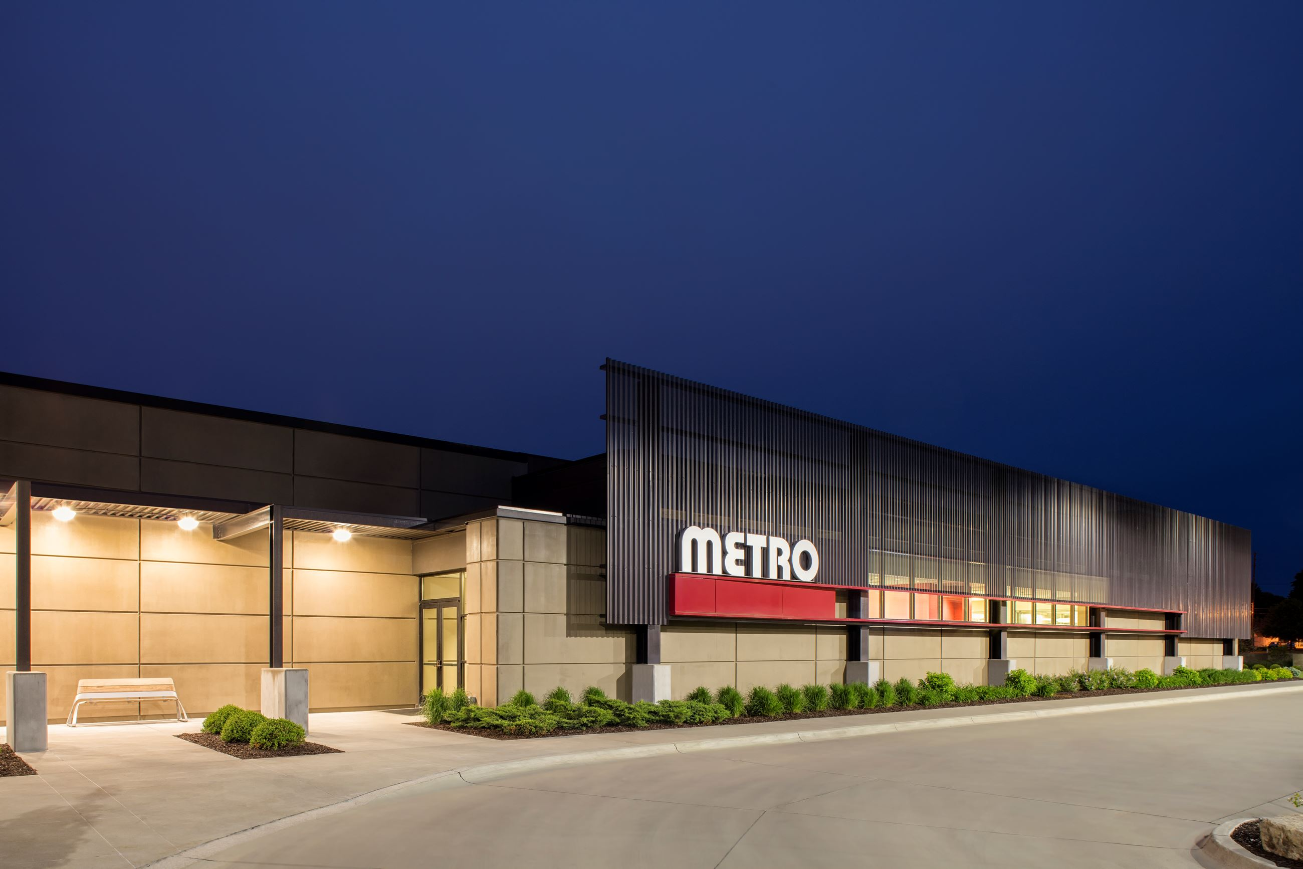 Metro Operations and Maintenance Center - Night